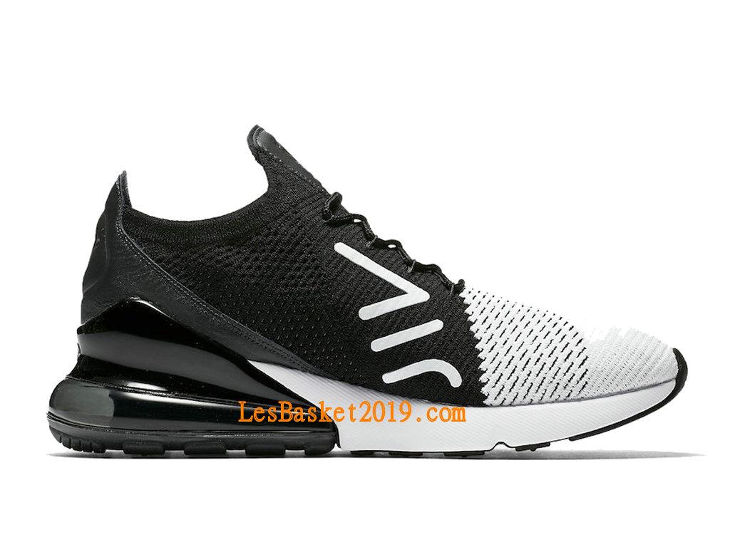 2019 Nike Air Max 270 Flyknit White Black Men´s Officiel Basket Prix Shoes AO1023 100 1903130020 Basketball Shoes | Nike Air Max Plus 2019