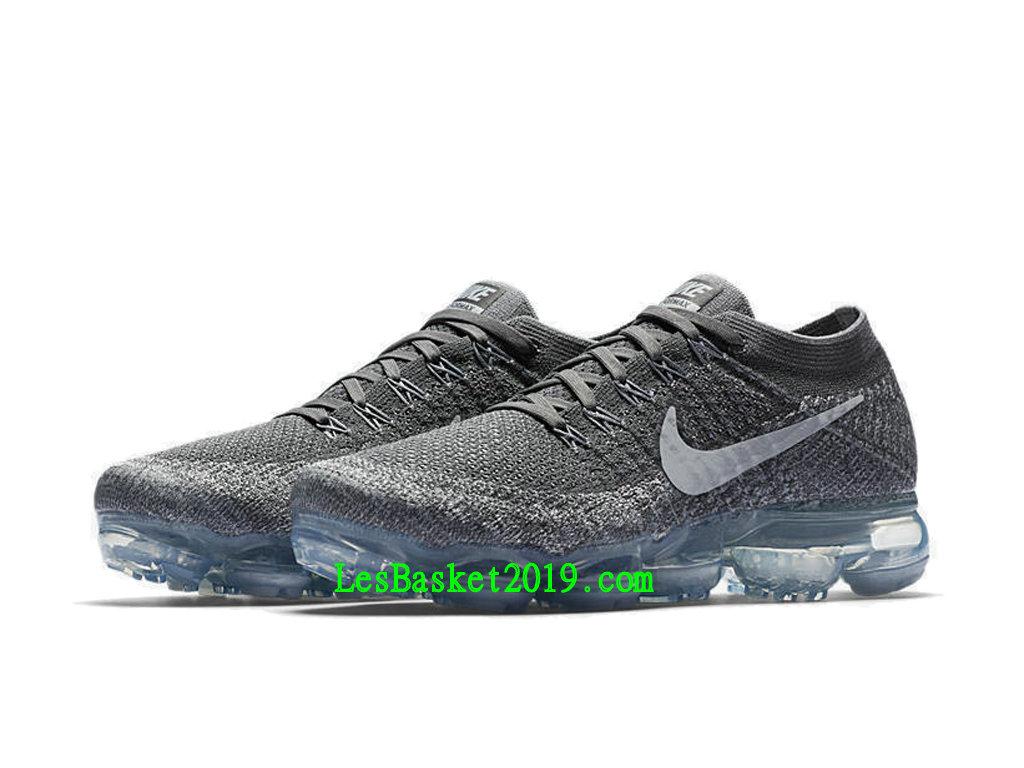 1d684ce65fb5d ... 2019 Nike WMNS Air VaporMax Flyknit Chaussures Officiel Running Prix Pas  Cher Pour Femme Gris Blanc ...